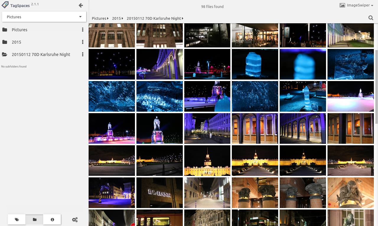 Screenshot showing thumbnails of photos